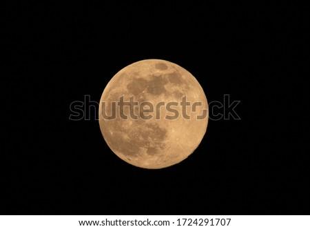 Full moon on  the sky yellow