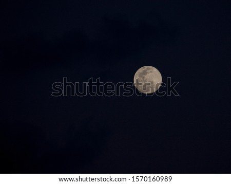 Full moon over Aldabra Atoll, Seychelles