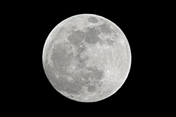 Full moon shot at 1200mm focal length
