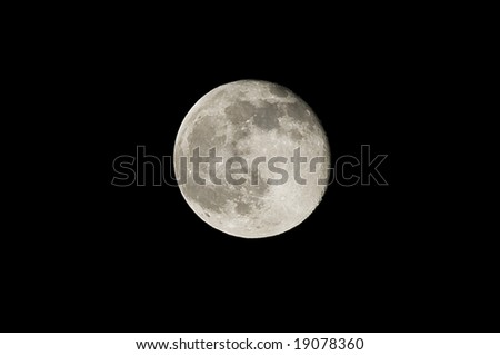 Full moon taken from the southeastern United States in october