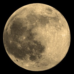 Full Moon with lot's of details on the surface. Taken through my telescope.