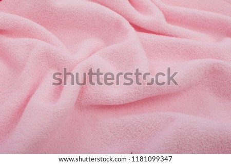 Full page close up of pink fabric texture. Pink, soft fabric texture for background. #1181099347