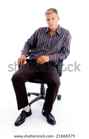 successful person sitting