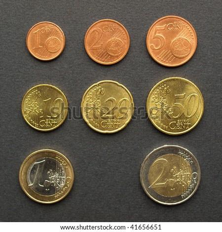 Full range of euro coins money european currency stock - Stock piastrelle 2 euro ...