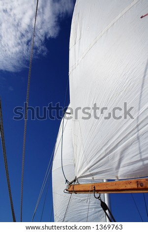 full sail and big blue sky