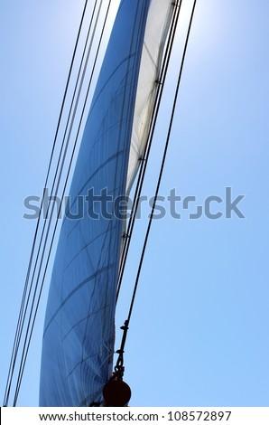 Full Sail on wind