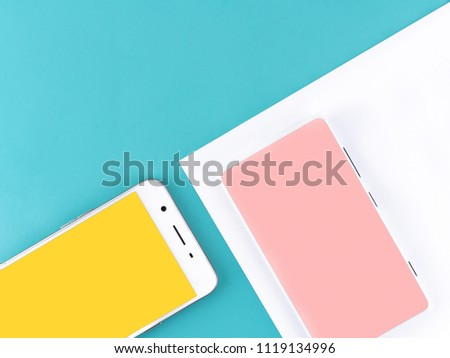 Full screen mobile phone concept on a coloured background #1119134996