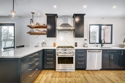 Full set of Canadian House in Greater Montreal area with interior and exterior representing true Canadian life style in lovely homey environment