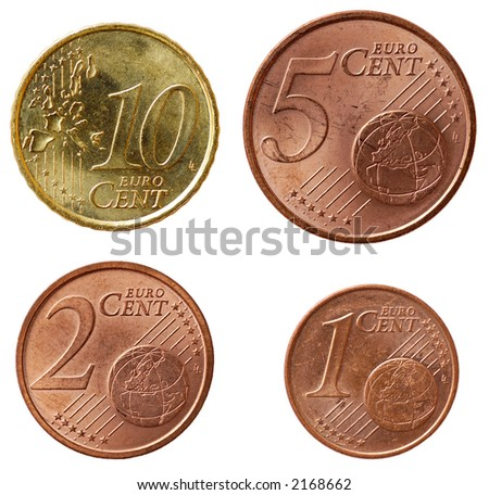 Full set of euro coins in high resolution - part 2