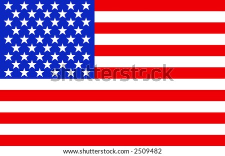 Full view of the American flag.