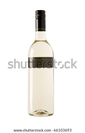 full white wine bottle with blank label