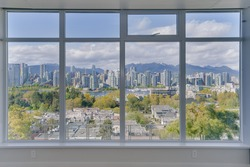 Full Window Wall overlooking Vancouver Skyline Canada