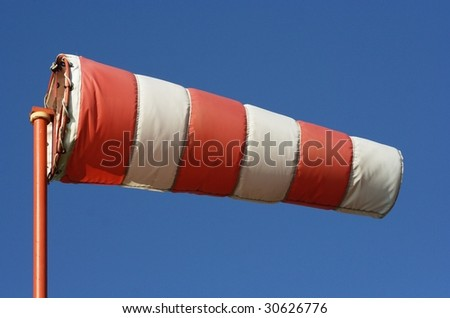 Full windsock in mid-air