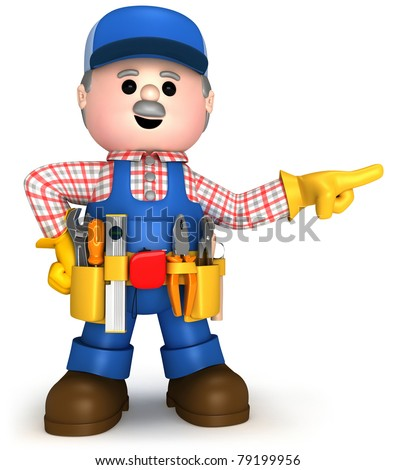 Fully equiped craftsman mascot
