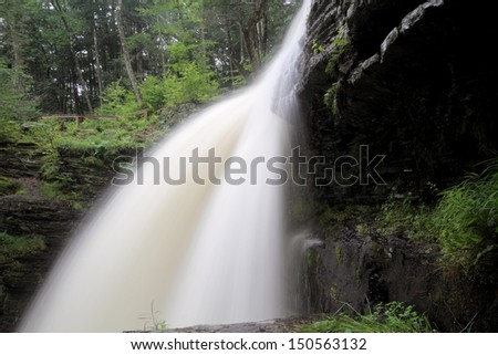 Fulmer Falls in Childs Park in Pennsylvania