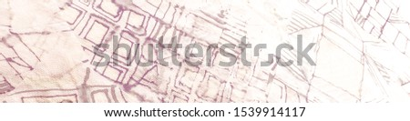 Fun Geometrics. Beige Strip White Patchwork Geometric. Light Cubism Image. Brown Brick Background Texture. Sepia Contemporary Pattern.