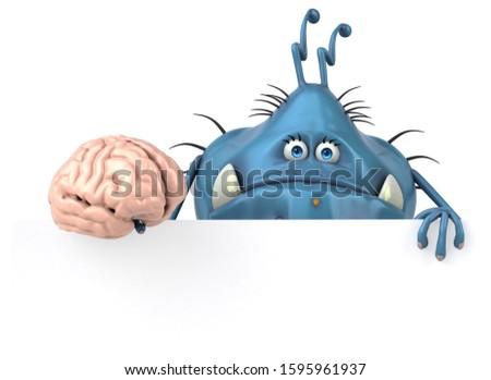 Fun germ - 3D Illustration