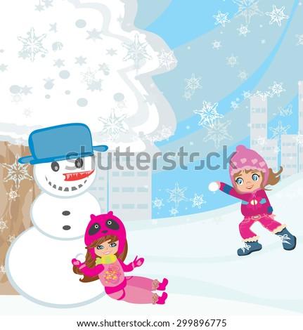 Stock Photo Fun in the snow