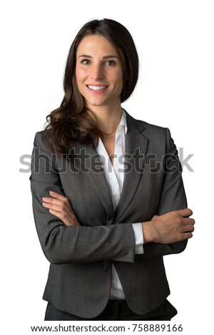 Fun loving sincere likable young business woman executive legal stylish attorney look