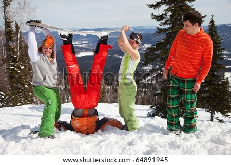 Fun picture with Snowboarder team