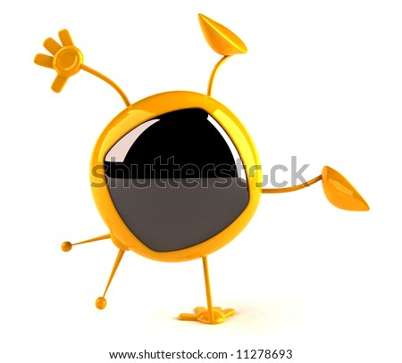 Fun television - stock photo