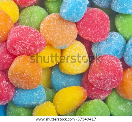 Fun Vibrant Gum Drop Candies for a Sugar Treat.