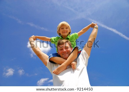 Fun with child - stock photo