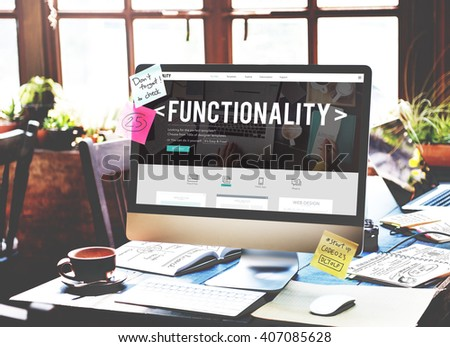 Functionality Practical Purpose Suitable Technology Concept - Shutterstock ID 407085628