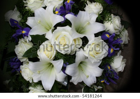 Funeral flowers for condolences