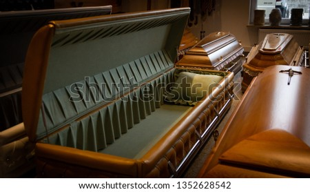Funeral home with new modern like a Sofa chester coffin style #1352628542
