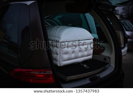 Funeral home with new modern like a Sofa chester coffin style #1357437983