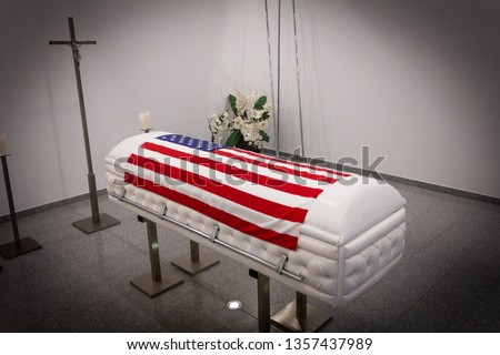 Funeral home with new modern like a Sofa chester coffin style #1357437989