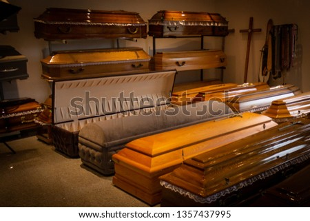 Funeral home with new modern like a Sofa chester coffin style #1357437995
