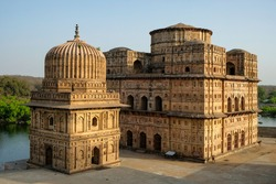 Funerary monuments dedicated to royalty from the 16th and 17th century in Orchha, Madhya Pradesh, India.