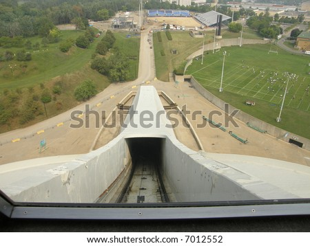 Funicular (Cable Car) at the Olympic Stadium in Montreal (Quebec), Canada