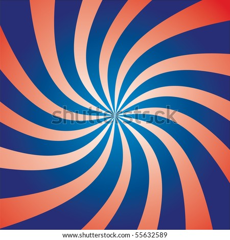 Funky abstract purple background illustration of twisty stripes with a radial gradient. - stock photo