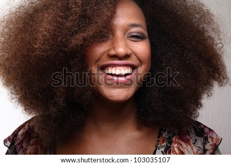 Funky afro lady