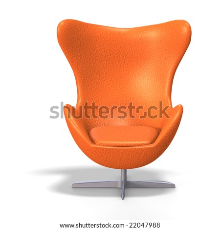 Funky egg chair from the 70s with clipping path stock for 70s egg chair