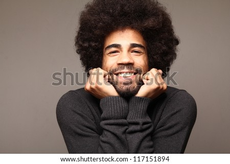 Funky funny afro man