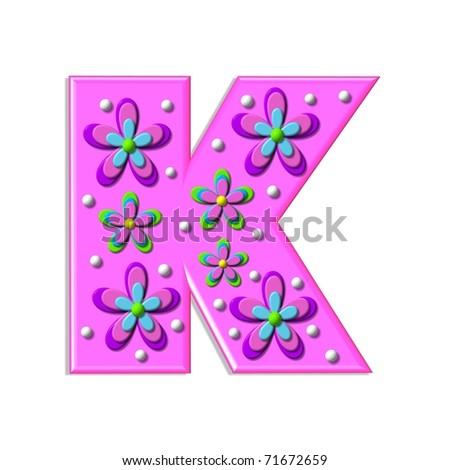 K Letter Images In Pink The Letter K In Pink Funky hot pink letter, k,