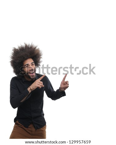 Funky man with afro