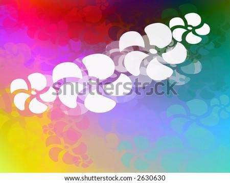 Funky rainbow hawaiian theme page design illustration