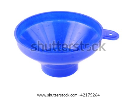 funnel isolated on white background