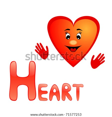 h alphabet in heart  almost totally alone to