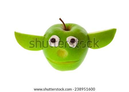 Stock Photo Funny apple figure