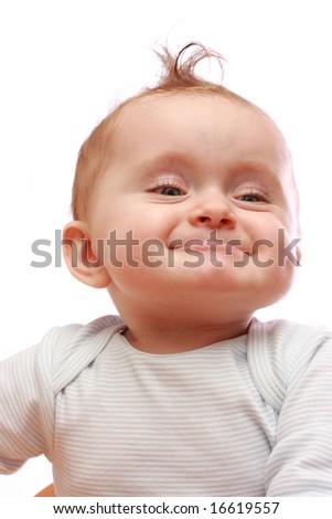 Stock Photo funny baby girl isolated on white background