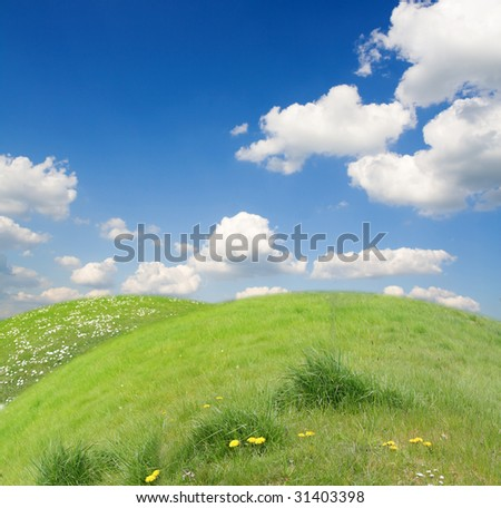 Funny beautiful landscape in ecology-look