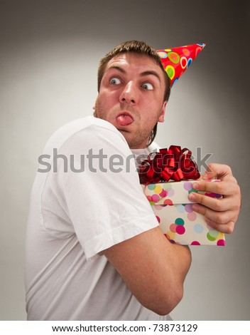 funny birthday gifts. stock photo : Funny birthday