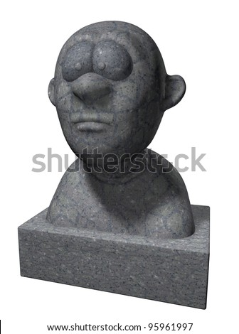 funny cartoon bust - 3d illustration - stock photo