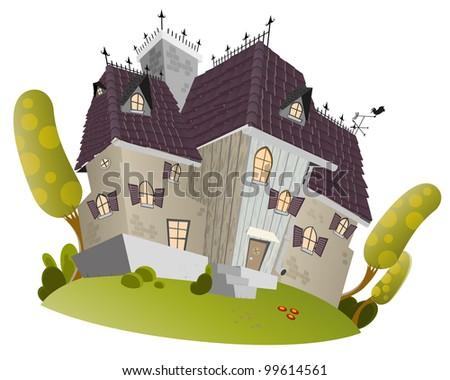 Big cartoon mansion